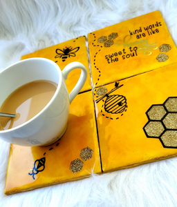 Bumble Bee Ceramic Coasters