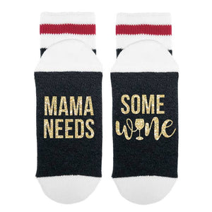 Mama Needs Some Wine - Metallic Gold
