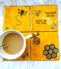 Load image into Gallery viewer, Bumble Bee Ceramic Coasters