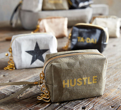 Hustle Hard Mini Wristlet