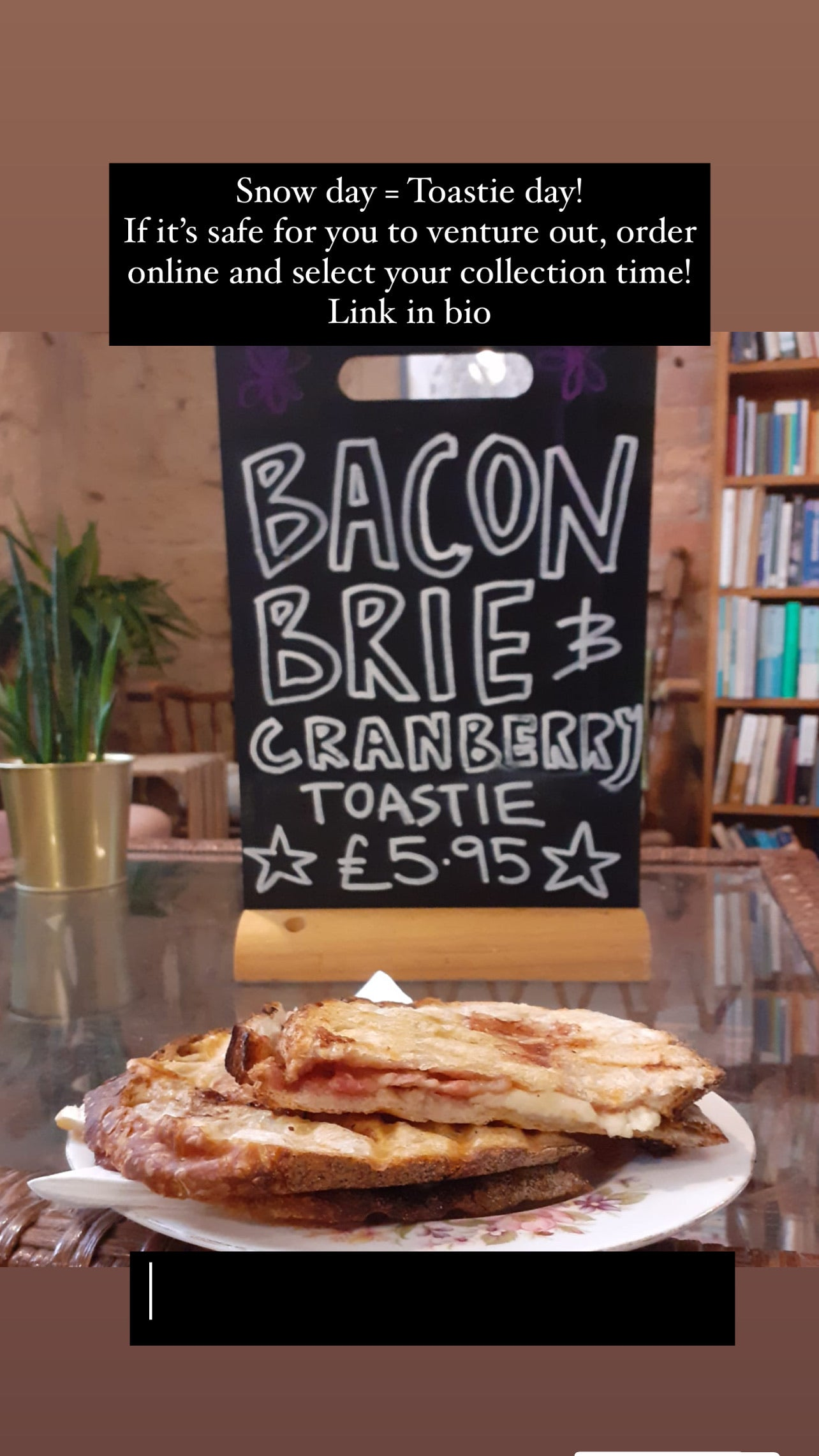 Bacon, Brie & Cranberry Toastie