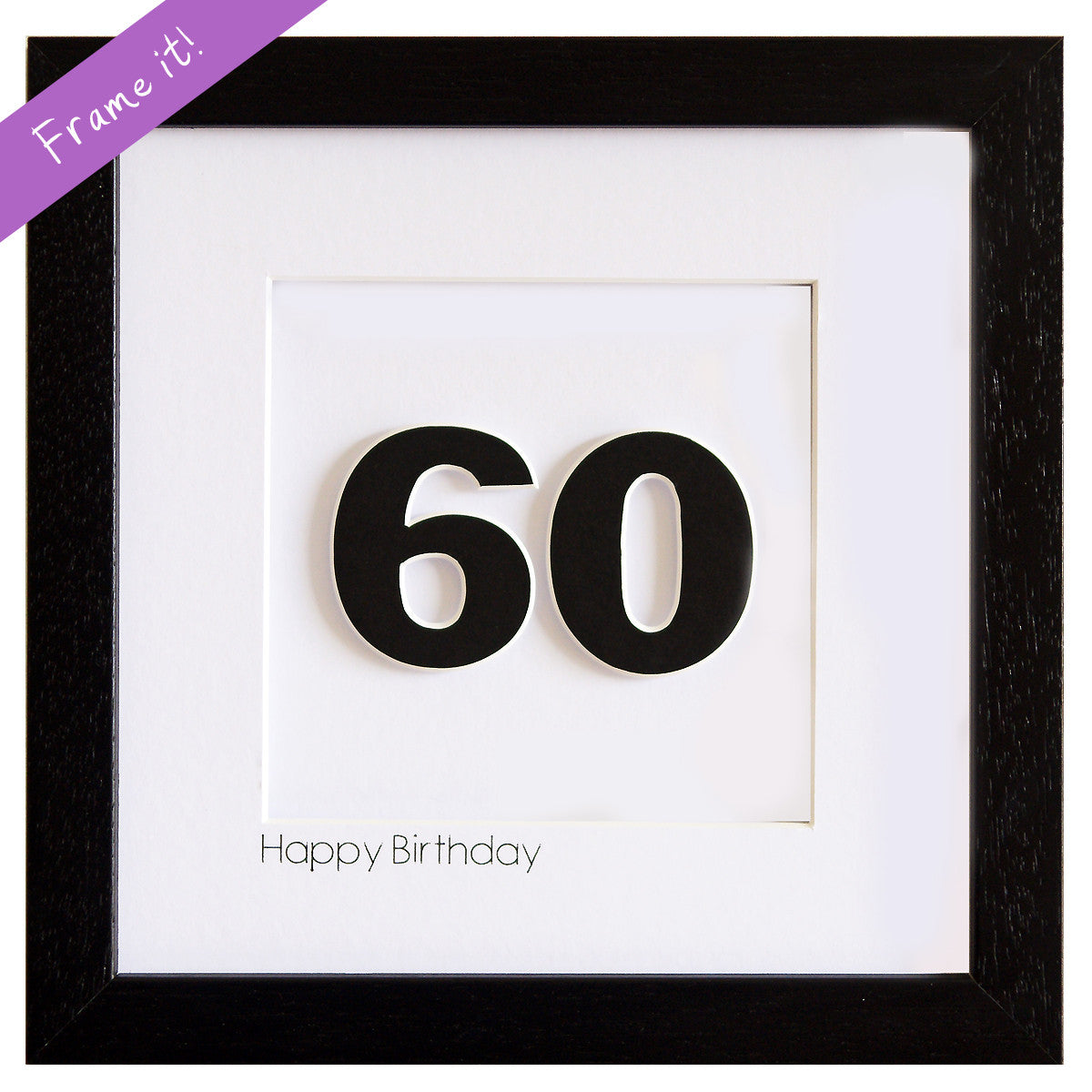 Birthday Number Frame