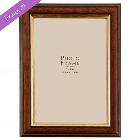 Oak Gold Rimmed Frame