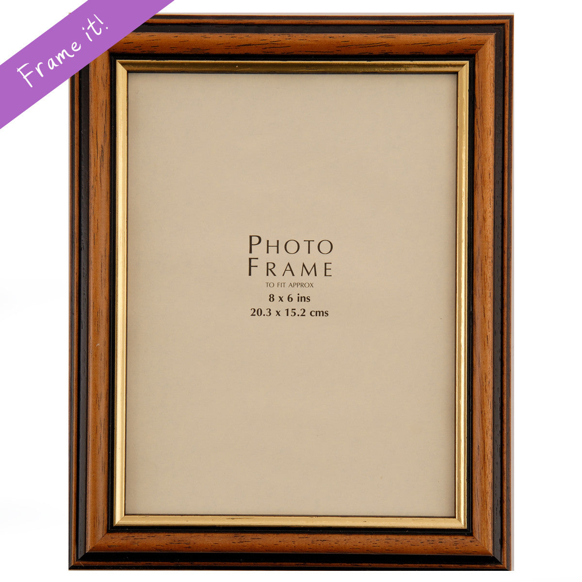 Mahogany with Gold Trim Frame