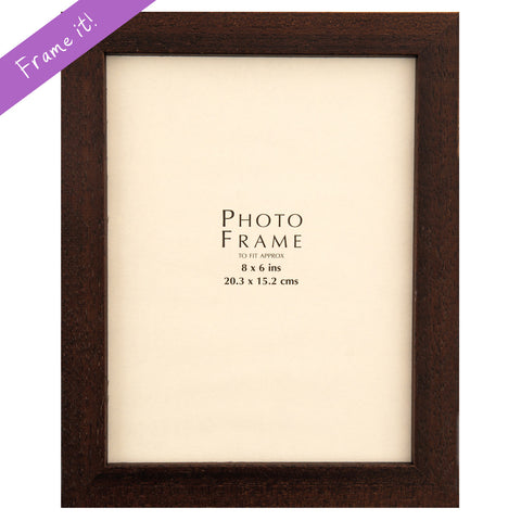 Brown Wood Medium Frame
