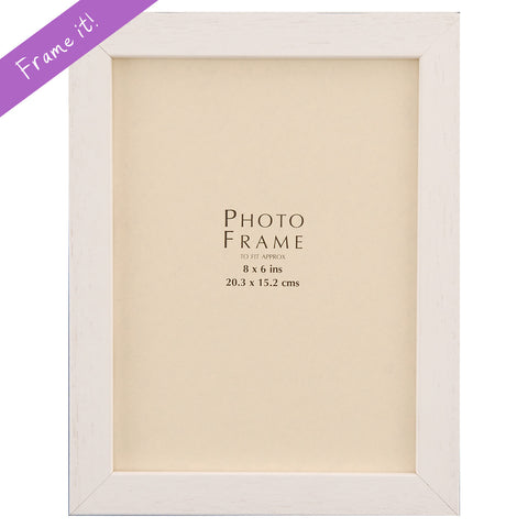White Wood Medium Frame