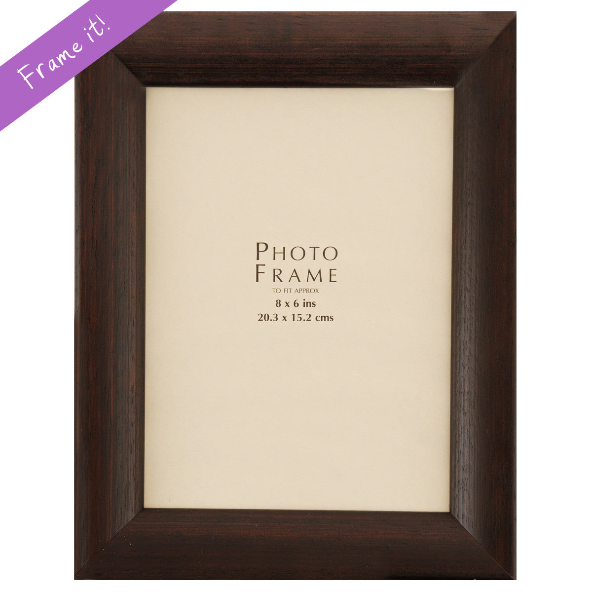 Bevelled Dark Wood Frame