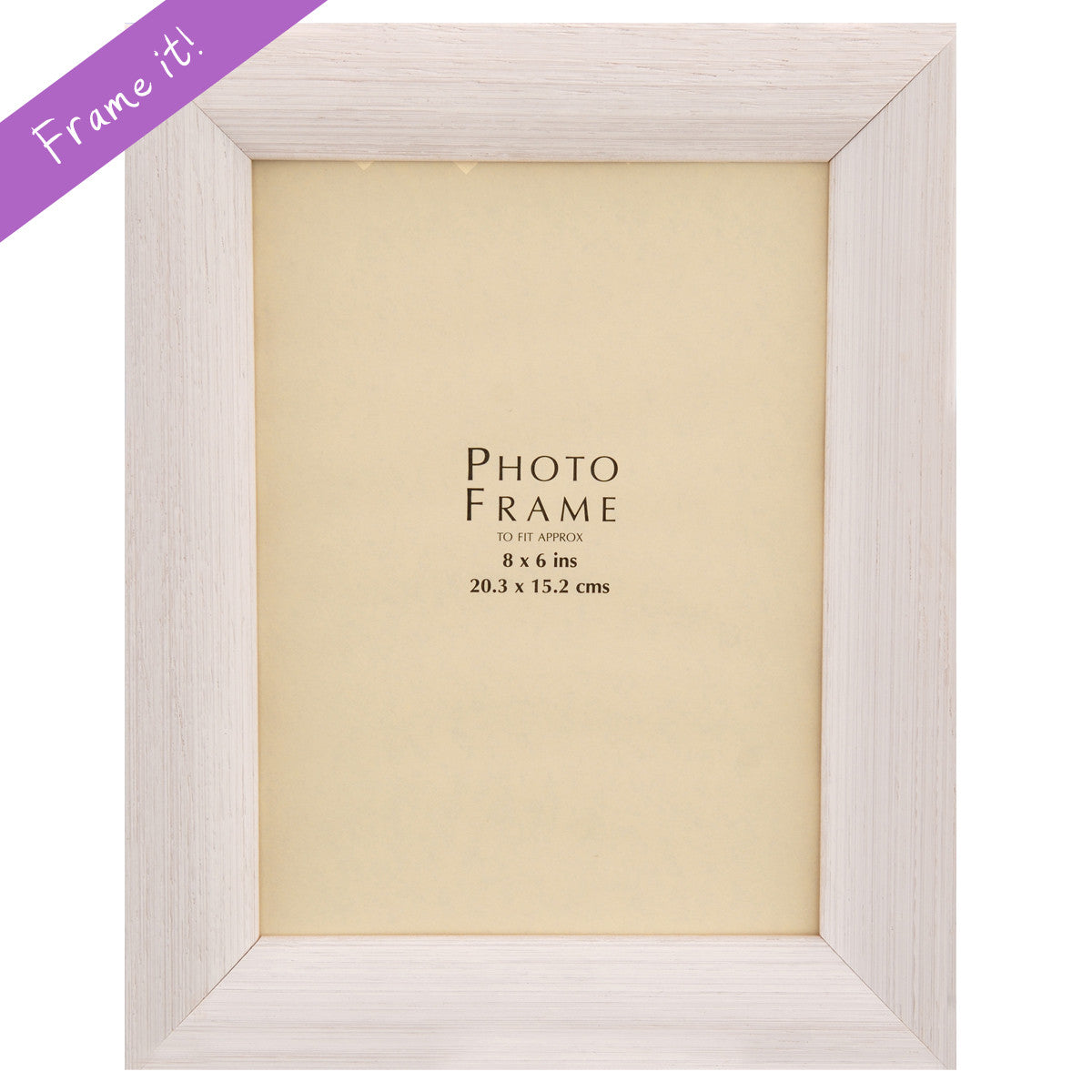 Bevelled White Wood Frame