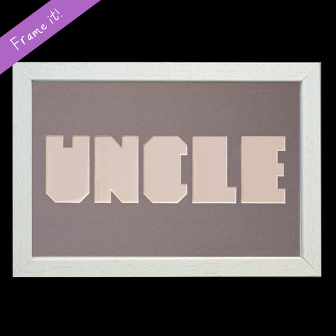 """UNCLE"" Letter Frame"