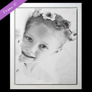 Custom Canvas Print with Frame (B & W)