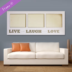Live Laugh Love (White)