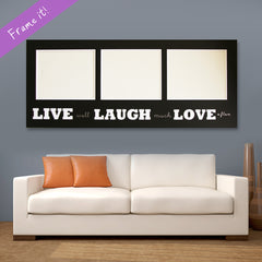Live Laugh Love (black)