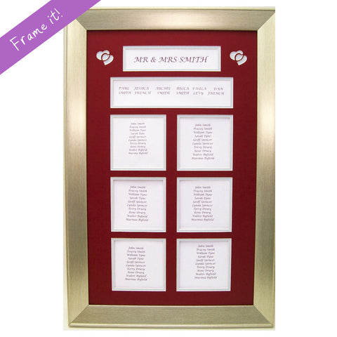 Custom Wedding Table Plans