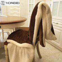 Load image into Gallery viewer, YOMDID Winter Wool Blanket Ferret Cashmere Blanket Warm Blankets Fleece Super Warm Soft Throw On Sofa Bed Cover Square Cobija