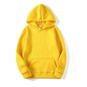 Men Hoodie Pullover Sweatshirts Solid Color