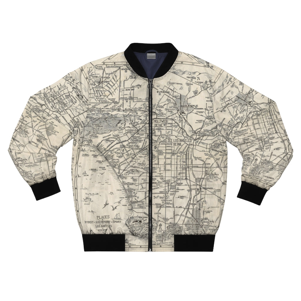 """1915 Los Angeles"" Men's AOP Bomber Jacket"