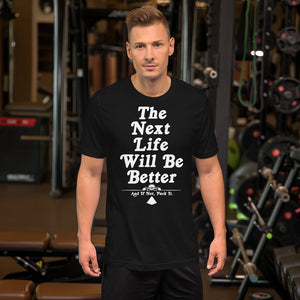 """NEXT LIFE"" T-Shirt in Black"