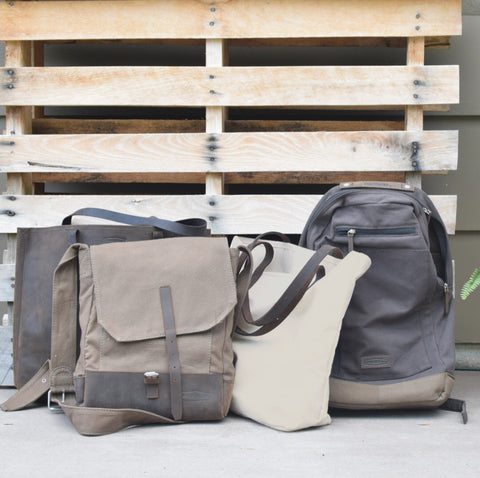 Causegear bags against pallet