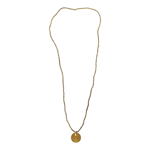 long brass joy necklace