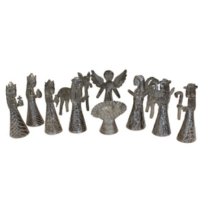 Nativity set 11-piece | Haitian Steel Metal Drum Art , Vineworks - Vineworks Fair Trade