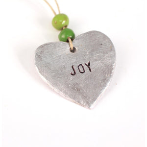 "Aluminum ""Joy"" Heart , Vineworks - Vineworks Fair Trade"