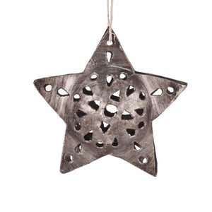 Metal Star Ornament , Vineworks - Vineworks Fair Trade