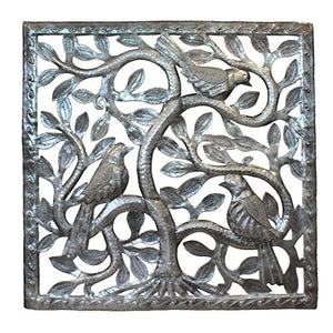 Tree of Life - Square Three Dimensional Birds  17"