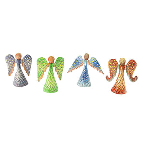 Angels - 4 Pack Hand Painted | Haitian Steel Metal Drum Art , Vineworks - Vineworks Fair Trade