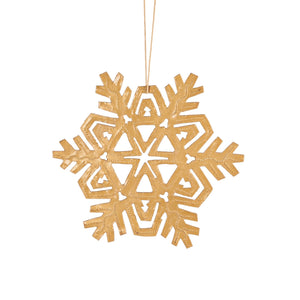 Gold Snowflake Ornament , Vineworks - Vineworks Fair Trade