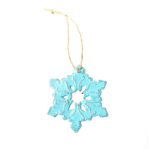 Metal Snowflake - Light Blue , Vineworks - Vineworks Fair Trade