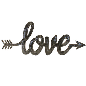 """Love"" Arrow Wall Art , Vineworks - Vineworks Fair Trade"