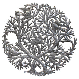 Dual Tree of Life | Haitian Steel Metal Drum Art , Vineworks - Vineworks Fair Trade