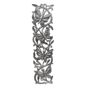 Butterfly Pillar | Haitian Steel Metal Drum Art , Vineworks - Vineworks Fair Trade