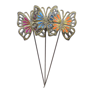 Painted Butterfly Garden Stakes , Vineworks - Vineworks Fair Trade