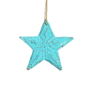 Mini Blue Metal Star , Vineworks - Vineworks Fair Trade