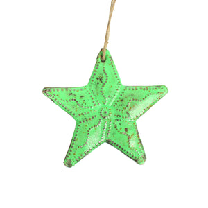 Metal Star - Green , Vineworks - Vineworks Fair Trade