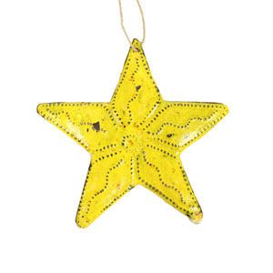 Metal Star -Yellow , Vineworks - Vineworks Fair Trade