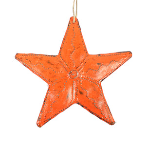 Metal Star - Orange , Vineworks - Vineworks Fair Trade