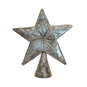 Tree Topper - Star | Haitian Steel Metal Drum Art , Vineworks - Vineworks Fair Trade