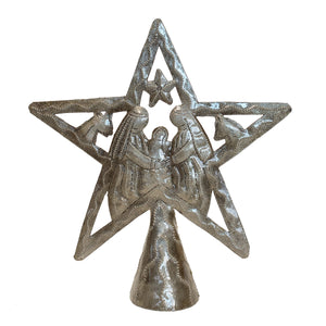 Tree Topper - Nativity | Haitian Steel Metal Drum Art , Vineworks - Vineworks Fair Trade