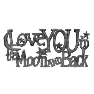 """Love You to the Moon and Back"" Wall Art"