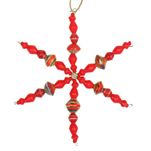 Cereal Box Snowflake | Red , Vineworks - Vineworks Fair Trade