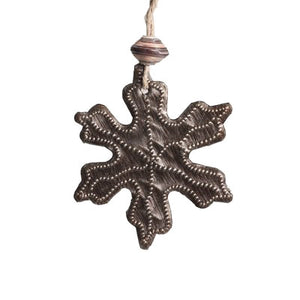 Mini Metal Snowflake Ornament , Vineworks - Vineworks Fair Trade