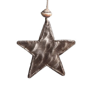 Mini Metal Star Ornament , Vineworks - Vineworks Fair Trade
