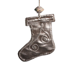 Mini Metal Stocking Ornament , Vineworks - Vineworks Fair Trade