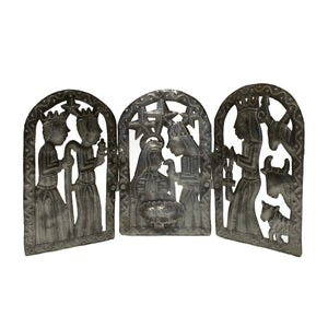 Tri Fold Nativity | Haiti 55 Gallon Steel Drum Art