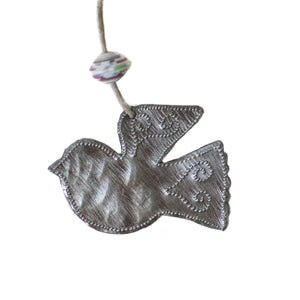 Mini Metal Dove Ornament , Vineworks - Vineworks Fair Trade