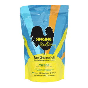 Vienna Medium-Dark Roast , Singing Rooster - Vineworks Fair Trade