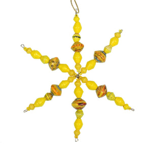 Cereal Box Snowflake | Yellow , Vineworks - Vineworks Fair Trade
