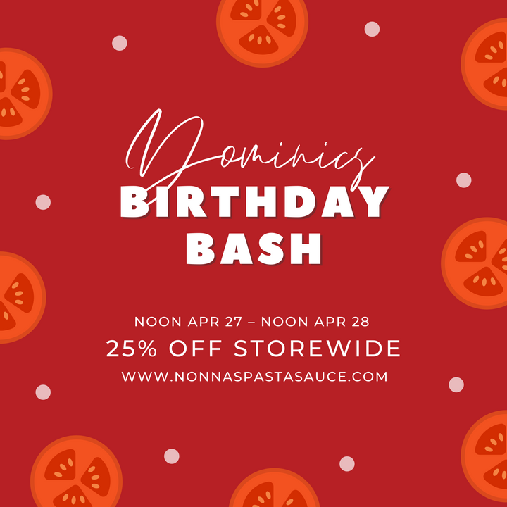 Dominic's Birthday Bash – Storewide Sale!